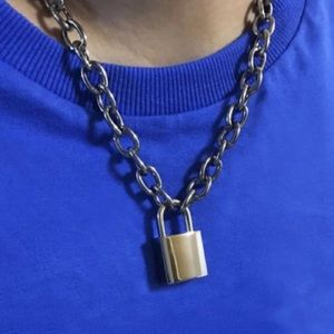 padlock chain necklace